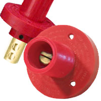 Panel Mount Mini Double Set Screw Male Red