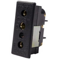 Stage 3-Pin Bates 20A 125v Female Panel Mount