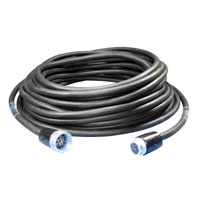 Motor Control & Power Cable 14/7 - Male/Female Socapex 7 Pin - 100 feet - Black