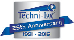 Techni-Lux 25th Anniversary logo