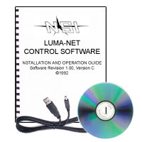 PC Software, Cable and Manual for Programming Luma-Net