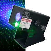 Bliss Light 15 - Green Laser Stars / Blue Cloud Nebula - 120v/60hz