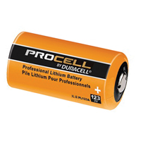 Battery: Procell 3v Lithium