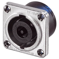Neutrik NL8MPR Receptacle speakON® 8 pole - solder - NLT style - nickel- WITH SQUARE FLANGE - NOT ROUND