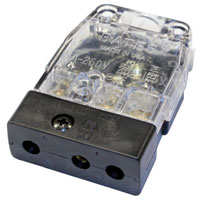Stage 3-Pin Bates 20A 125v Inline Female Clear