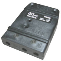 Stage 3-Pin Bates 60A 125v Inline Female Black