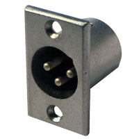 XLR 3pin Male Panel Mount