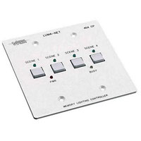404CP Remote Memory Control Panel wall station with 4 programmable scenes, 2 gang box