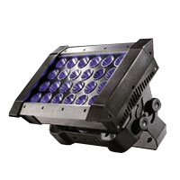 Quadro 24 - 24x15w TriColor RGB LED IP65 DMX&Wireless - 100-260vAC