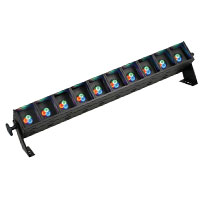 StripLite LED 30 x 3w RGB, 25 Degree lenses, DMX, 110-240vAC, Black