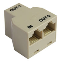 UltraLED Driver PSU Output Port Splitter w/2 meter black cable, RJ45 1 in/ 2 out connections