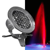 Underwater 36 RGB LED 57w - 15 degrees,  DMX, 12vAC with 13 foot power/data cable - Stainless Steel IP68