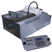 Gusto 1800 Fog Machine 1700w with DC-3S Digital Remote, DMX 3&5 pin -120vAC