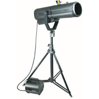 Followspot Moon 1200w, CYM colors, blackout & iris, w/HTI1200/D7/60 - 120v 60Hz, no plug