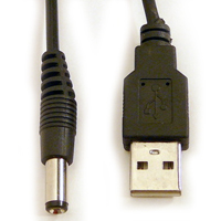 Littlite Accessory cable, 2.1mm, USB to power ANSER from USB Port