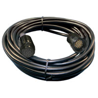Power Multi-Cable - Male/Female 19pin 50 feet - 6 Circuit 12gauge/14wire - Black