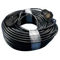 Power Multi-Cable - Male/Female 19pin 100 feet - 6 Circuit 12gauge/14wire - Black