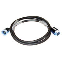 Motor Control & Power Cable 14/7 - Male/Female Socapex 7 Pin - 25 feet - Black