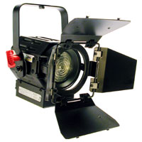 Fresnel 3inch 300w w/barndoors and color frame - no plug - no lamp