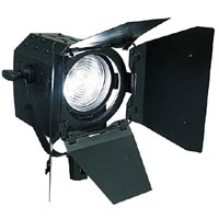 Fresnel 5inch 650w w/barndoors and color frame - no lamp - no plug