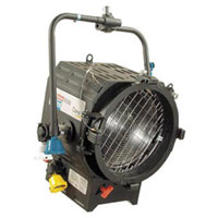 Fresnel 10inch 2kw w/barndoors + color frame - no lamp - no plug