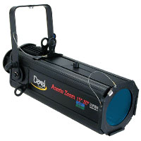 Ellipsoidal 575 Zoom 15-30 degree w/frame+pattern holder+shutters - no plug - no lamp - Black