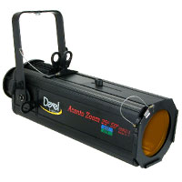 Ellipsoidal 575 Zoom 25-50 degree w/frame+pattern holder+shutters - no plug - no lamp - Black
