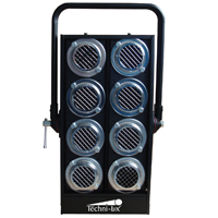 Light Bank Blinder for 8-Par36 w/o wiring, aluminum - Black