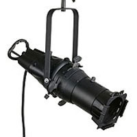 LEO ELLIPSOIDAL SPOTLIGHT, 15 degree Beam, Includes c-clamp, color frame, cord and 5-15P edison plug, no lamp, Black