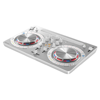 PIONEER:DDJ-WeGO3-W -- Compact DJ Controller with iOS compatible. Brushed aluminum finish in White.