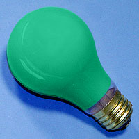 A19 100w 120v Ceramic Green E26 Lamp