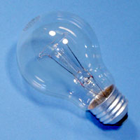 A19 75w 120v RP Clear E26 Lamp
