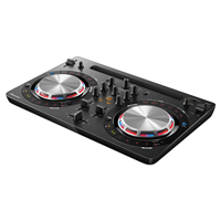 PIONEER:DDJ-WeGO3-K -- Compact DJ Controller with iOS compatible. Brushed aluminum finish in Black