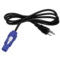 Power Cord - 18AWG SJT  x 5' Molded Edison to Powercon