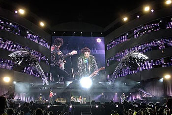 stage using 40 SGM Palco 3 LED lights during band Rolling Stones A Bigger Bang Tour, United Kingdom_2