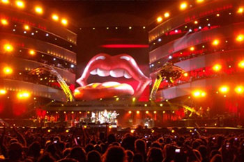 stage using 40 SGM Palco 3 LED lights during band Rolling Stones A Bigger Bang Tour, United Kingdom_3