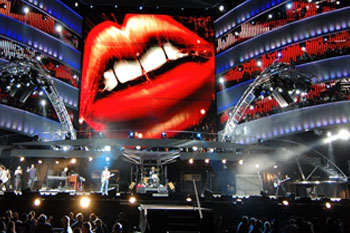 stage using 40 SGM Palco 3 LED lights during band Rolling Stones A Bigger Bang Tour, United Kingdom_5