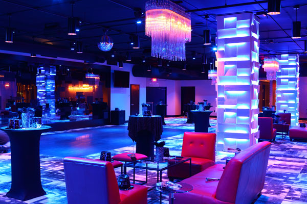 LED lighting for New Year's Eve Party at The MEZZ, Orlando, Florida