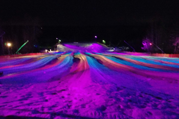 Lunar Lights Tubing Peek 'n Peak Resort - Clymer, New York