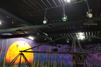 Installed UltraLux 18 LED fixtures on ceiling of Swamp Ape Thrill Ride Swampy Jack's Wongo Adventure - Amusement Park, Panama City Beach, FL image 10