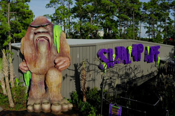 Front of Swamp Ape Thrill Ride in the day time at Swampy Jack's Wongo Adventure - Amusement Park, Panama City Beach, FL image 12