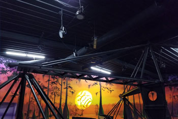 Installed UltraLux 18 LED fixtures on ceiling of Swamp Ape Thrill Ride Swampy Jack's Wongo Adventure - Amusement Park, Panama City Beach, FL image 6