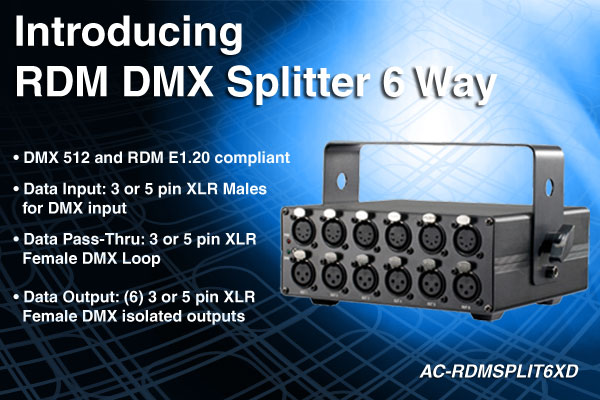 RDM DMX Splitter 6 Way