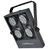 LEDBank4 Tricolor 24 x 3w, 25 Degree lenses, DMX, 110-240vAC, Black