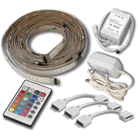 Mosaic LED Flexible Light Strips Starter Kit - 5 x 2ft sections, remote and power supply