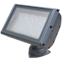 ChromaBatten Flood LED 45x25deg Silver Fixture