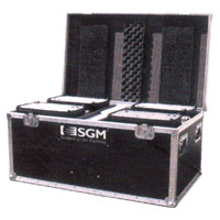 Quad Road Case for Palco LED Fixtures, 4 casters, stackable wheel wells & accessory compartment