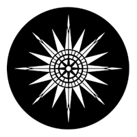 ROSCO:250-77439 -- 77439 Compass Rose Steel Metal Gobo, Size: Specify