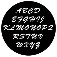 ROSCO:250-78264 -- 78264 Brush Script Capitals Steel Metal Gobo, Size: Specify